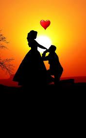 Download Couple, love, silhouette ...