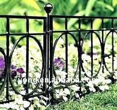 garden border fence canada black metal