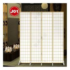 japanese design 4 pcs room divider partition screens