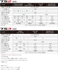 Titleist Ts3 Driver 2018 Model Japan Specifications