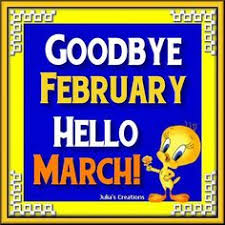 goodbye february hello march 2017
