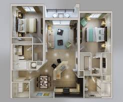 Master Bedroom Floor Plan 50 Two 2 Bedroom Apartment House Plans Architecture Design