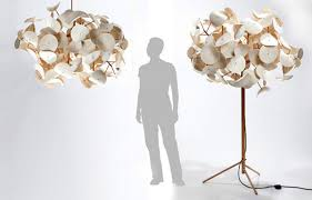 nature inspired lighting. floor lamp made of wood and wool nature inspired lighting