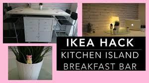 diy kitchen island bar. Exellent Kitchen IKEA HACK U2013 DIY Kitchen Island Breakfast Bar Storage Unit Throughout Diy N