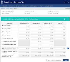 2017 Tax Refund Chart How To Fill Tables 6 8 And 12 13 In Gstr 9 Explained