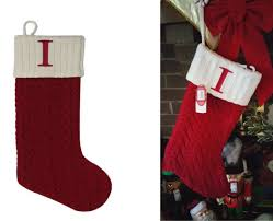 St. Nicholas Square 21-in. Monogram Christmas Stocking Initial I ...