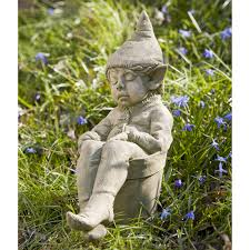 Campania International Gavin The Elf Cast Stone Garden Statue | Hayneedle