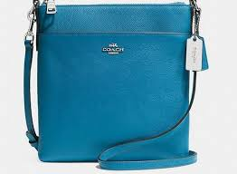Coach Zip In Logo Small Blue Crossbody Bags CFT