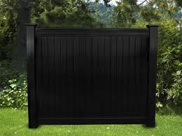Black Vinyl Privacy Fencing BLACKline hhp