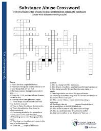 Drug abuse crossword puzzle answers - medicclub.info