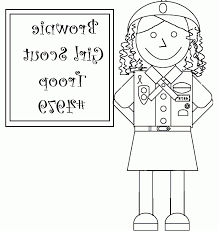 Brownie Girl Scout Coloring Pages Vfbi Coloring Pintables Girl Scout