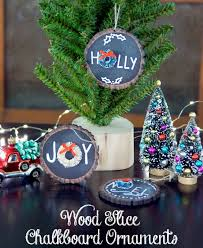 supplies needed to make your own chalkboard diy holiday ornaments