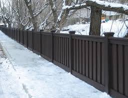 Dark Brown Vinyl Privacy Fence Trex Fencing Composite Vinyl Fence