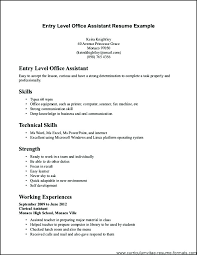 Entry Level Office Assistant Resume Interesting Medical Office Assistant Resume Skills Example Administration