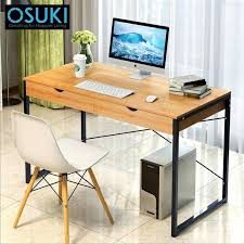 home office table. OSUKI Home Office Table 120 X 60cm With Double Drawer (Brown) Home Office Table