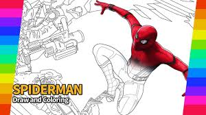 Coloring pages for learning numbers and colors for preschool and kindergarten. Spiderman Draw And Coloring How To Draw Drawing And Coloring Pages Youtube