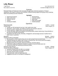 Retail Sales Associate Resume Cover Letter Retail And Restaurant