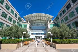 cupertino apple office. Cupertino, CA, USA - August 15, 2016: The Apple World Headquarters At Cupertino Office U
