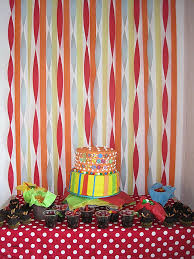 wall decoration ideas for birthday party lovely backdrop using streamers my sister has mad decorating skills