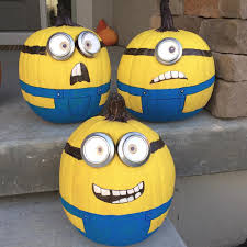 no carve painted pumpkin ideas a new trend of evil minion painting deable me decoration