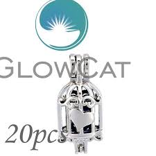 none glowcat 20x kk669 creative birdcage beads cage essential oil diffuser aroma pearl cage locket pendant jewelry