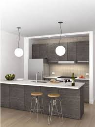 Of Kitchen Interior Love These Stools If In White Or Black And The Light Fixtures