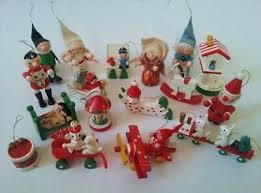 Weihnachtsbaum Figuren 50 Holz Figuren Rot Aufhänger
