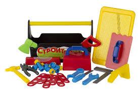 Игрушечный <b>набор инструментов в ящике</b> Строитель №4