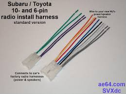 radio wiring adapter harness for subaru toyota cars