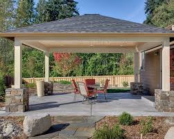 free standing covered patio designs. Exterior : Covered Patio Flooring Ideas Minimalist House . Free Standing Designs