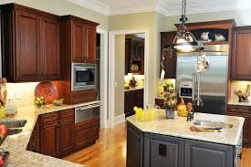 Grey Walls In Kitchen Dark Kitchen Cabinets With Grey Walls Outofhome Also Kitchen Decor