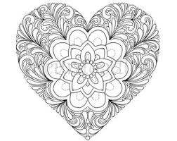 Small Picture Heart coloring page Etsy