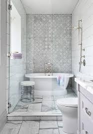 roll top bathtub in small walk in shower