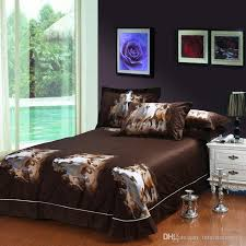 oil painting galloping horse egyptian cotton bedding bedspreads for full queen size beds with duvet