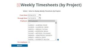 Time Sheets Weekly Timesheet By Project Esub Academy Esub Construction
