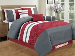 black colored combine quilt sets simple bedding low bed with grey white red king quilt size set