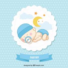 Card For Baby Boy Baby Boy Card Vector Free Download