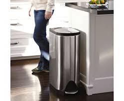 hefty 13 gallon step on trash can black com kitchen kitchen garbage cans