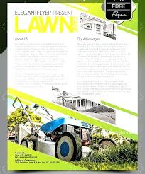 Free Lawn Mowing Flyer Template Lawn Care Flyer Template Altpaper Co