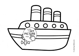 Boat Coloring Pages For Toddlers To Print Kids Free Download Pc Blue