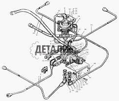 Трубопроводы к тормозным кранам МАЗ 509А 127