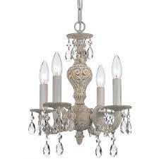 living room crystorama paris market collection 4 light antique whiteswarovski pertaining to popular home crystal mini