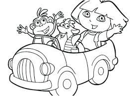 Free Coloring Pages Dora Free Able The Explorer Colouring Pages
