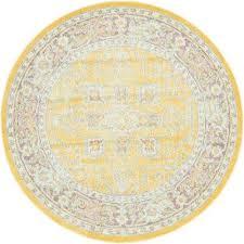 baracoa prado yellow 5 5 x 5 5 round rug