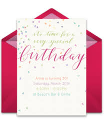 Party Invitations Free Girl Birthday Party Online Invitations Punchbowl