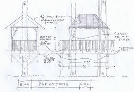 Original Tree House Sketch Treehouse Blueprints ...