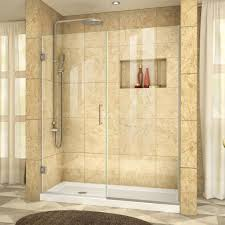dreamline unidoor plus 58 in to 5812 x 72 dreamline shower doors i60