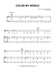 color my world sheet music download color my world sheet music by petula clark sheet music plus