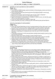 Analyst Master Data Resume Samples Velvet Jobs