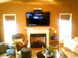 installing tv over fireplace television above